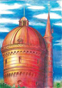 Wasserturm, Cottbus, Zeichnungen, Groß