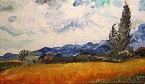 Berge, Vincent van gogh, Landschaft, Malerei