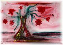 Dekoration, Aquarellmalerei, Blumen, Malerei