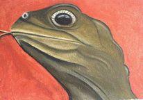 Figural, Echse, Malerei, Reptil