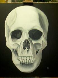 Schwarz weiß, Malerei, Figural,
