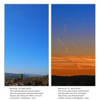 Himmel, Kondensstreifen, Asche, Vulkanasche