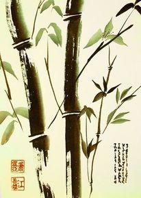 Tusche, Sumi, Bambus, Malerei