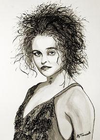 Tusche, Zeichnungen, Portrait,