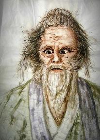 Seidenpapier, Tuschmalerei, Hidetora, Ichimonji