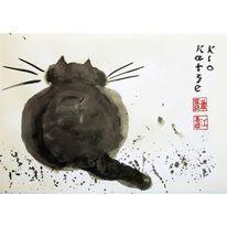 Katze, Tusche, Klo, Sumi