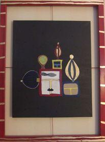 Acrylmalerei, Blattgold, Lack, Malerei