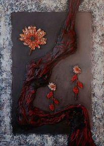 Blumen 3d, Malerei, Abstrakt, Erwachen