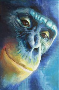 Bonobo, Affe, Menschenaffen, Malerei