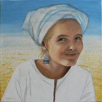 Portrait, Acrylmalerei, Malerei, Ägypten