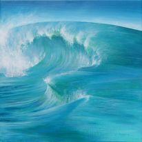 Grün, Wasser, Blau, Acrylmalerei