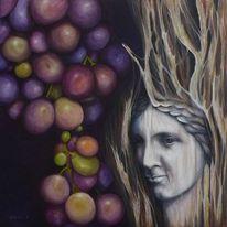 Veritas, Acrylmalerei, Wein, Trauben