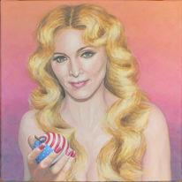 Acrylmalerei, Madonna, Sängerin, Portrait