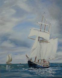 Meersegelnwind, Malerei, Wind