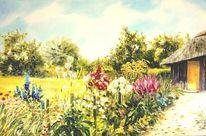 Seebüll, Garten, Blumen überall, Malerei