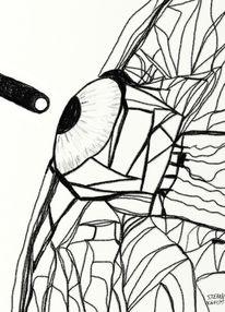 Abstrakt, Surreal, Zeichnungen, Augen