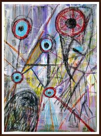 Schwarz, Abstrakt, Düster, Pastellmalerei