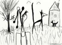 Comic, Abstrakt, Digitale kunst, Suche