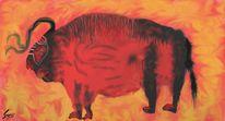Dunkel, Digitale kunst, Feuer