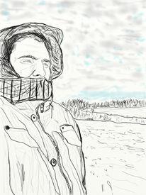Digitale kunst, Figural, Tag, Winter