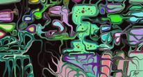 Abstrakt, Dunkel, Digitale kunst, Kreislauf