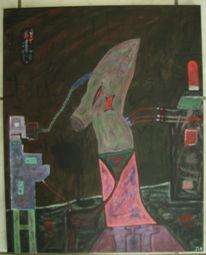 Cyberpunk, Malerei, Abstrakt, Objekt