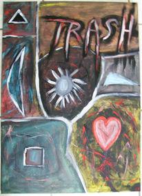 Malerei, Abstrakt, Trash