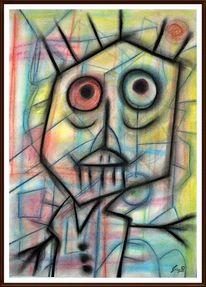 Modern, Pastellmalerei, Malerei, Bunt