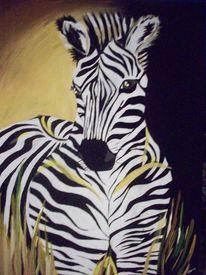 Acrylmalerei, Zebra, Malerei, Tiere