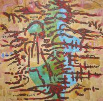 Panel, Abstrakt, Ölmalerei, Expressionismus