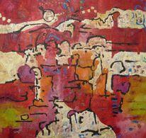 Ölmalerei, Expressionismus, Panel, Malerei