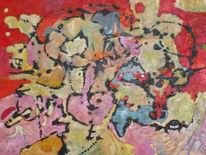Ölmalerei, Expressionismus, Abstrakt, Panel