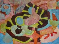 Panel, Ölmalerei, Abstrakt, Expressionismus