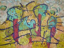 Abstrakt, Ölmalerei, Expressionismus, Panel