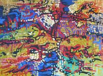 Abstrakt, Expressionismus, Meditations, Ölmalerei