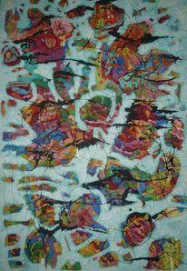 Abstrakt, Ölmalerei, Expressionismus, Meditations