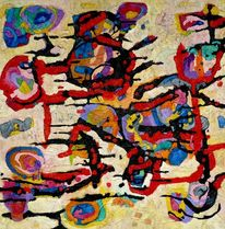 Meditations, Ölmalerei, Expressionismus, Panel