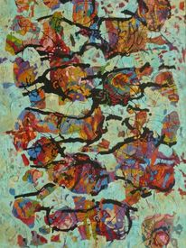 Expressionismus, Ölmalerei, Meditations, Panel