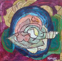 Expressionismus, Panel, Ölmalerei, Abstrakt