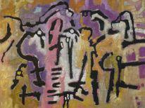 Ölmalerei, Welle, Expressionismus, Abstrakt