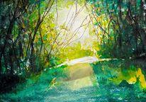 Wald, Lichtung, Leuchten, Romantik