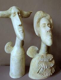 Modern, Skulptur, Figurative kunst, Keramik