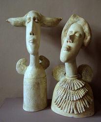 Skulptur, Portrait, Keriamk, Kunsthandwerk