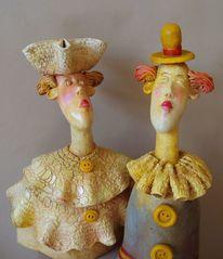 Skulptur, Portrait, Design, Keramik