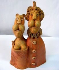 Keramik, Modern, Tiere, Clay