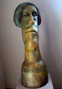 Keramik, Skulptur, Portrait,
