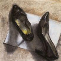 Schuhe, Schwarz, Damenschuhe, Frau