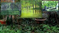 Wald, Grün, Mauer, Baum