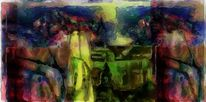 Duftende farben, Landschaft, Paintig, Stilleben90x67