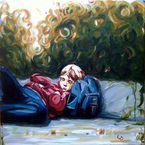 Liegen, Realismus, Tasche, Entspannung